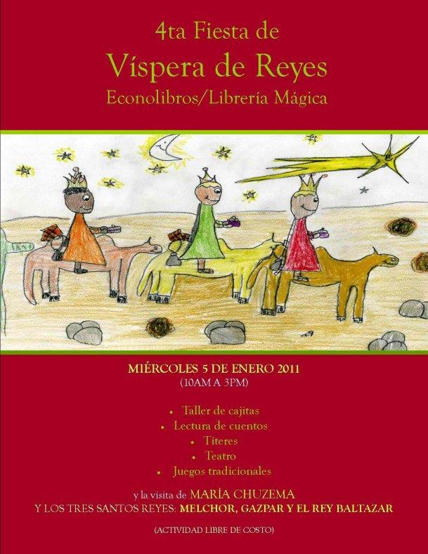 Disfruta de la Cuarta Fiesta de Víspera de Reyes en Librería Mágica el miércoles 5 de enero desde las 10:00 a.m.