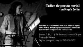 Mayda Colón ofrecerá Taller de poesíasocial